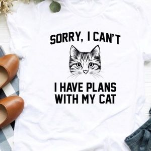 Gildan Tops - Sorry I can't I have plans with my cat